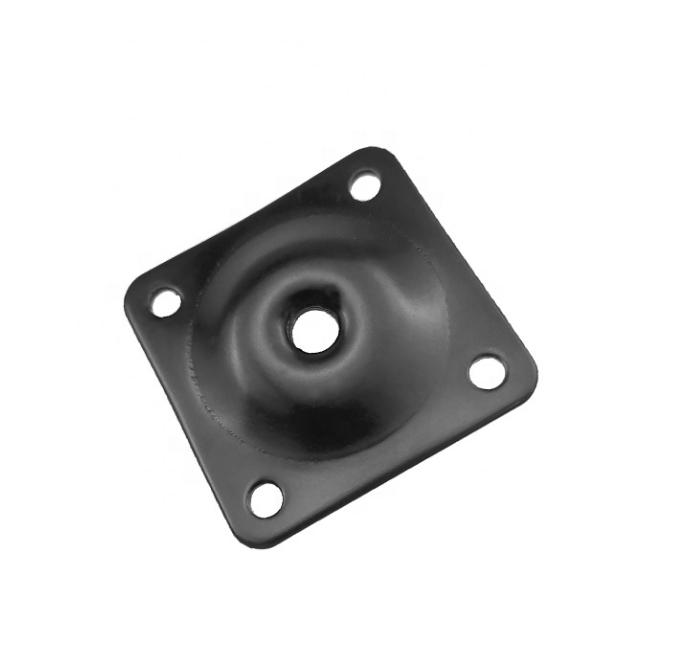 Table leg mounting plate